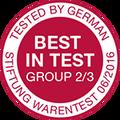 Award Stiftung Warentest 2016